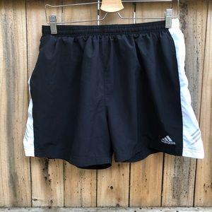 Vintage Black and White Adidas Lightweight Shorts